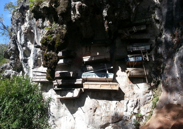 Hanging coffin-sagada philippines