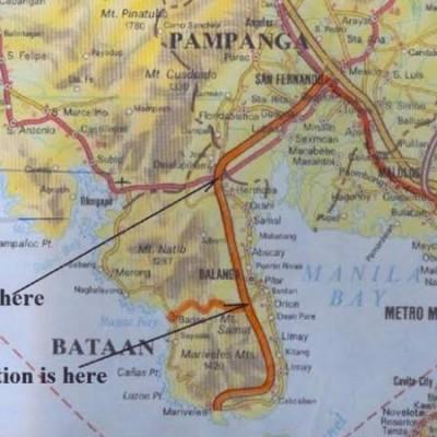 Bataan Tour Map
