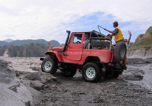 Mt Pinatubo 4x4 drive fun crossing small streams