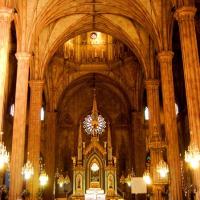 interior of San Sebastian Church Manila