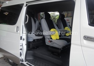 Minivan with comfortable captain seats