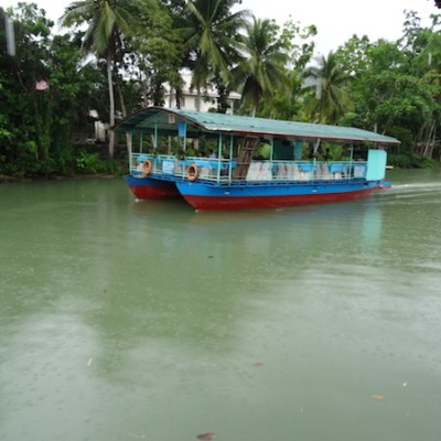 Loboc River , Bohol Island, Visayas Philippines, floating restaurant