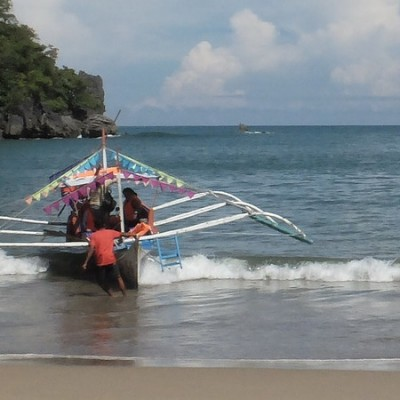 Sabang beach to Underground River
