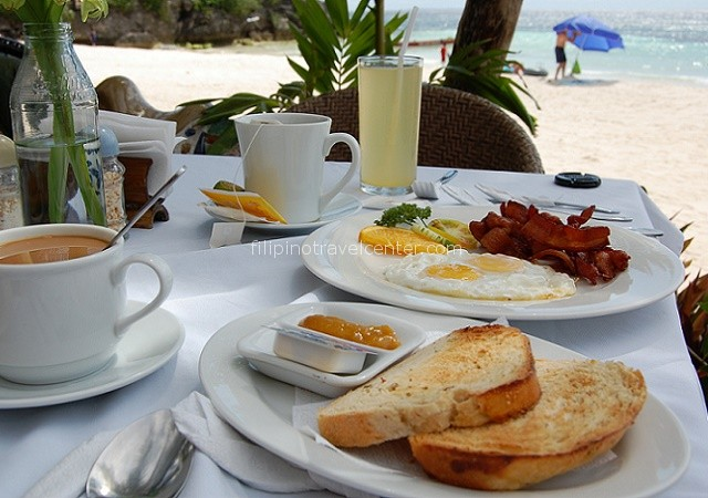 breakfast at Panglao beach Bohol Philippines