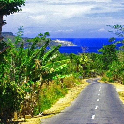road in Siquijor island Philippines