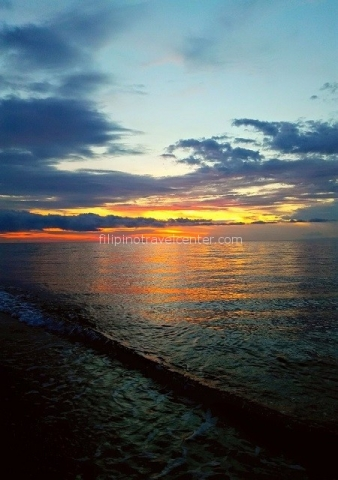 fantastic sunset in Camiguin island