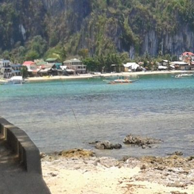 El Nido town seen from the water