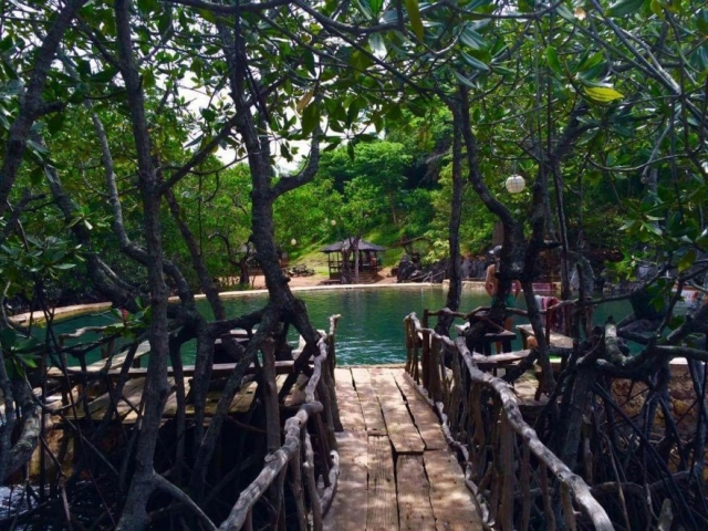 Maguinit Hotspring in the mangroves Coron Palawan