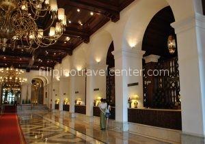 The historic Manila Hotel lobby
