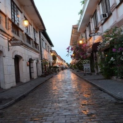 vigan heritage village around 6 in the morning