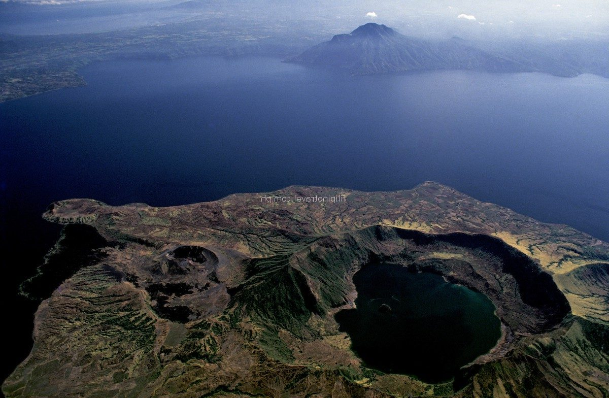 Aerial View Taal Volcano Philippines