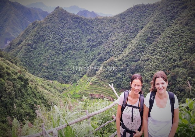 Banaue mountains trekking to reach peak