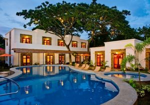 Acacia Tree Garden Hotel front view with pool