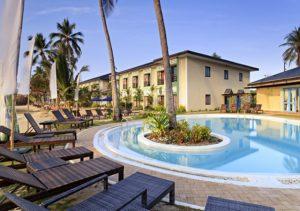 Microtel Palawan Pool Area Facade