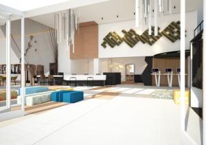 canvas hotel palawan reception area