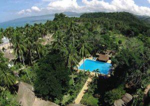 Daluyon Resort pool aerial view