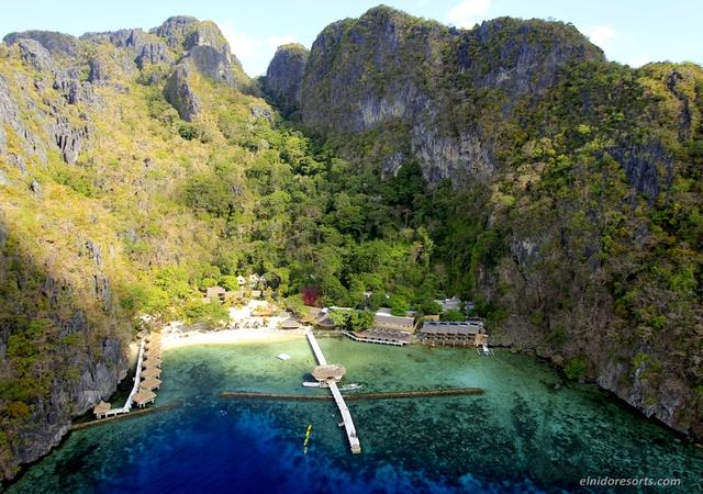 Miniloc Island Aerial view