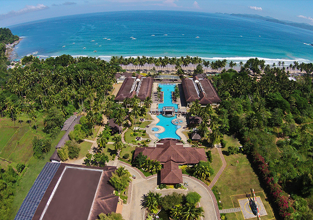 Sheridan Beach Resort Palawan Aerial view