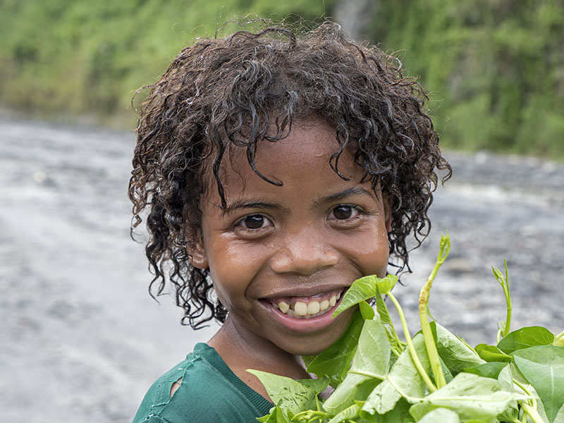 young Aeta Girl Philippines