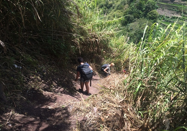 Guest trekking down from Kalinga